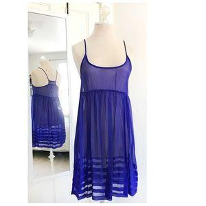 [ SPARKLE + FADE ] Sheer Silk Slip Dress